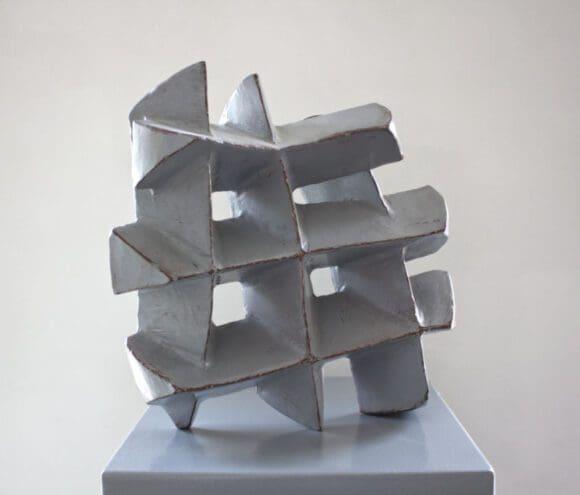 Skulptur aus Corten-Stahl