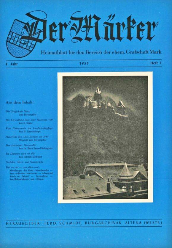 """Das erste Heft """"Der Märker"""" erschien im Jahr 1951. Foto: Kreisarchiv Märkischer Kreis"""