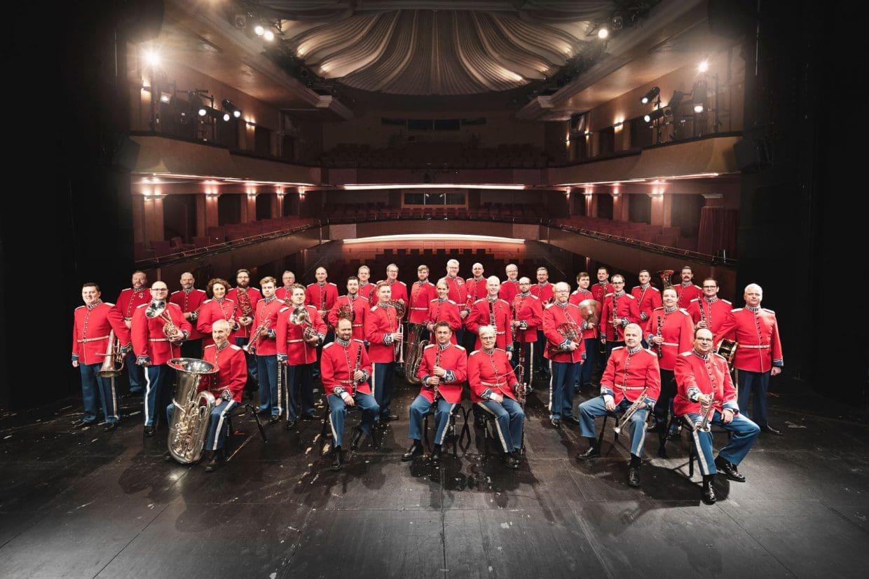Zu Gast beim Interrnational Brass Festival im Hochsauerland: Das Musikkorps der Königlich Dänischen Leibgarde Foto Nikolaj Lund