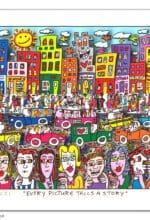"""Die Art Galerie in Siegen zeigt vom 5. September bis 6. November 2021 die Ausstellung """"James Rizzi – Geschichtenerzähler aus New York""""."""