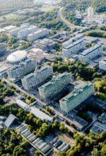 Die Ruhr-Universität Bochum aus der Vogelperspektive - ab dem, 1. Oktober 2021 hat die RUB 21 Fakultäten - Foto RUB, Marquard