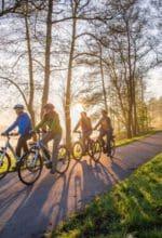 Eine Gruppe Tourenradfahrer unterwegs auf der HenneseeSchleife des SauerlandRadrings - Foto Schmallenberger Sauerland Tourismus GmbH / Klaus-Peter Kappest