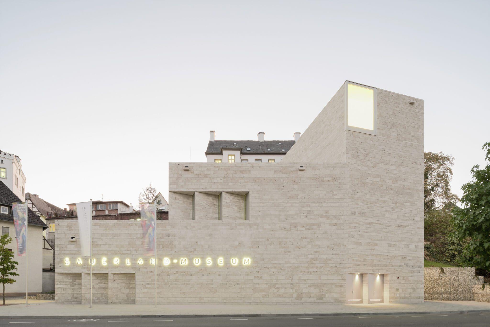 Sauerland-Museum in Arnsberg - die Architektur des Neubaus wurde mehrfach prämiert - Foto Brigida Gonzalez