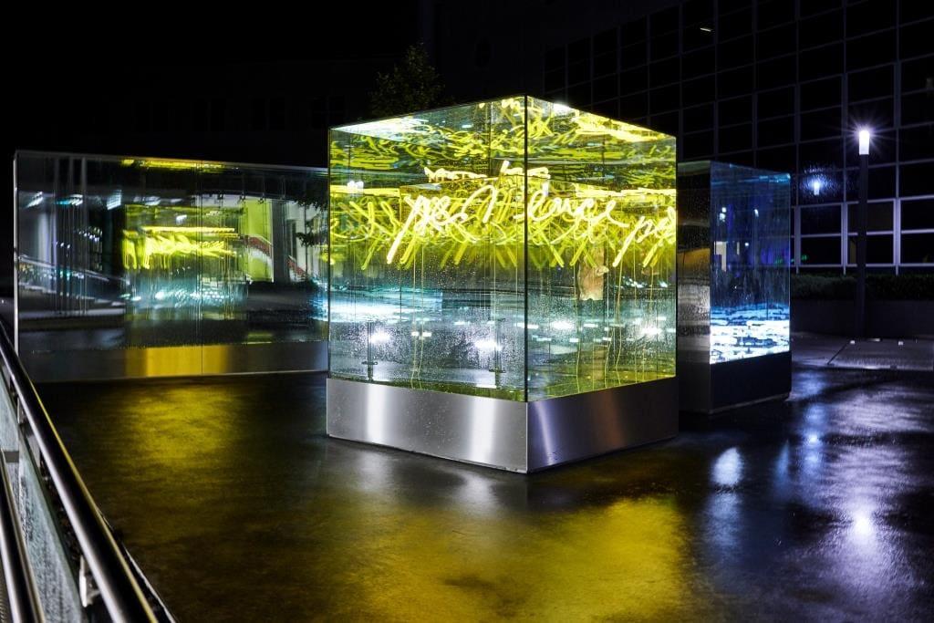 Lichtkunstwerk strahlt für Münster