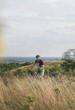 Ein Mountainbiker auf dem Sparkassentrail auf der Halde Norddeutschland - Foto RTG / Tönnissen